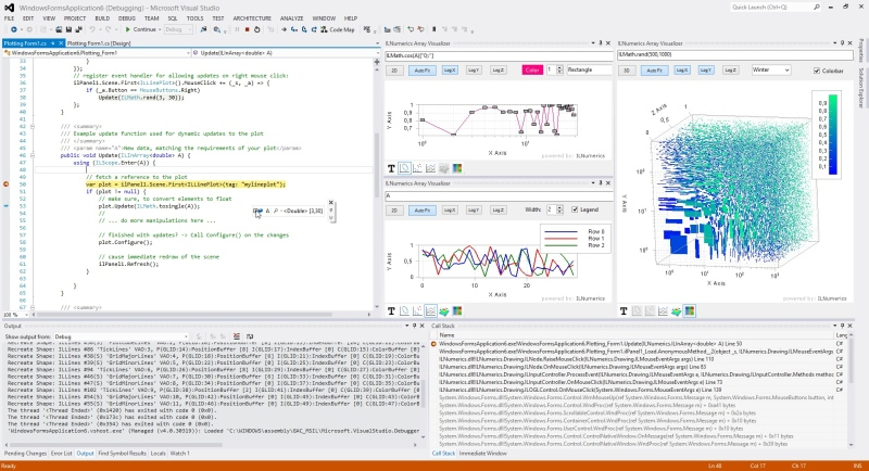 graphical debugger for .NET (C# and Visual Basic)