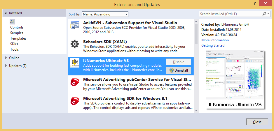 ILNumerics Visual Studio Computing Extension